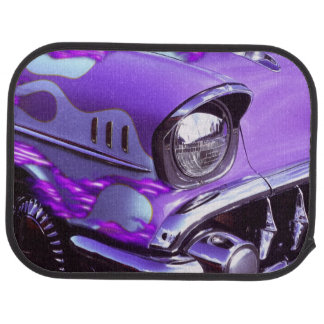 Classic car: Chevrolet with flaming hood Car Mat
