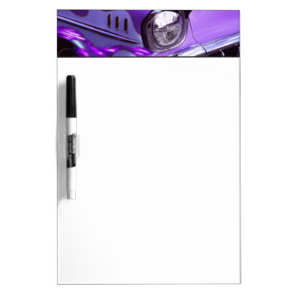 Classic car: Chevrolet with flaming hood Dry Erase Board