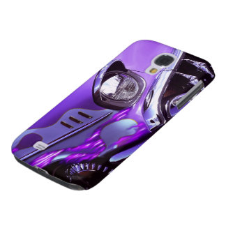 Classic car: Chevrolet with flaming hood Galaxy S4 Case