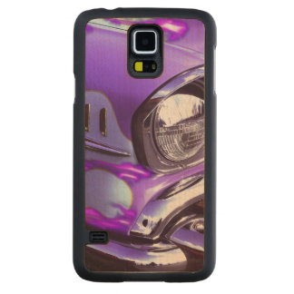 Classic car: Chevrolet with flaming hood Maple Galaxy S5 Slim Case