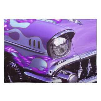Classic car: Chevrolet with flaming hood Placemat