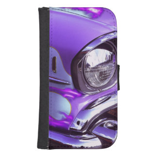 Classic car: Chevrolet with flaming hood Samsung S4 Wallet Case