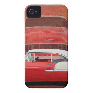 Classic Car Chevy Bel Air Red Vintage Oldtimer iPhone 4 Case-Mate Case