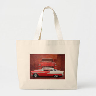 Classic Car Chevy Bel Air Red Vintage Oldtimer Jumbo Tote Bag