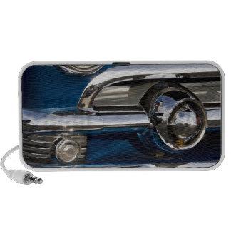 Classic Car Chrome Closeup Notebook Speakers