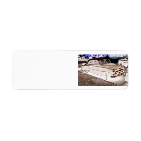 CLASSIC CAR design return address labels