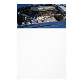 classic car engine 14 cm x 21.5 cm flyer