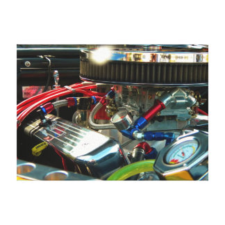 Classic Car Engine Canvas Prints