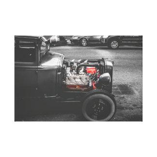 Classic Car engine Canvas Print