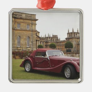 Classic car exhibition, Blenheim Palace Silver-Colored Square Decoration