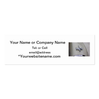 classic car front chrome rocket syle ornament pack of skinny business cards