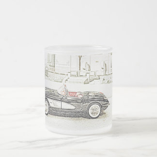 Classic Car Frosted Glass Mug
