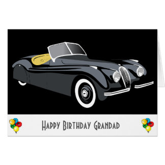 Classic Car Grandad Birthday Card