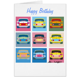 Classic Car Greetings Card