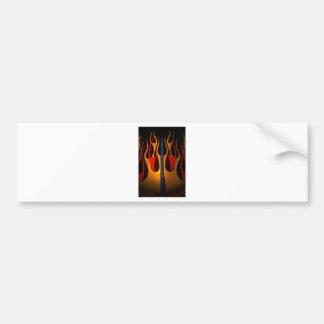 Classic Car Hood Flame Paint Bumper Sticker
