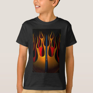 Classic Car Hood Flame Paint T Shirt