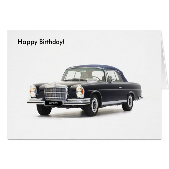 Classic car image for Birthday greeting card