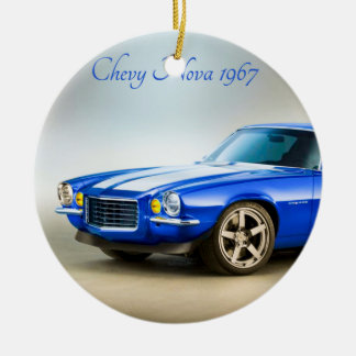 Classic Car image for Circle-Ornament Christmas Ornament