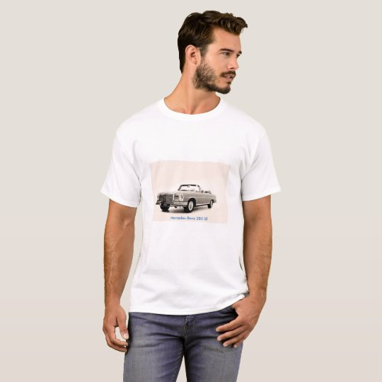 Classic car image for Men's Basic T-Shirt, White