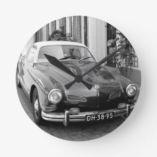 Classic car Karmann Ghia Round Clock