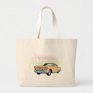 Classic car, old Chevrolet Bel Air in brown Jumbo Tote Bag
