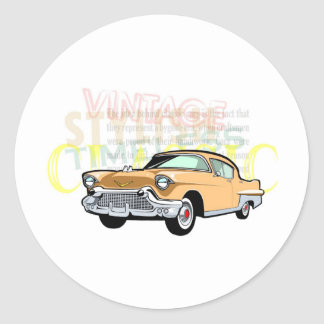 Classic car, old Chevrolet Bel Air in brown Round Sticker