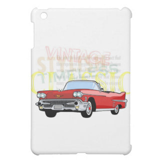 Classic car, old vintage convertible in red iPad mini cases