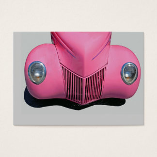 classic car painted pink business card