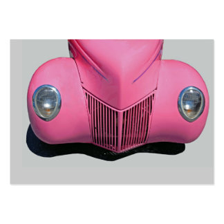 classic car painted pink business card templates
