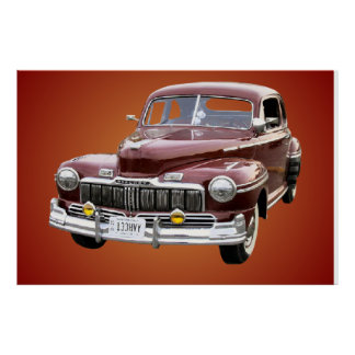 Classic Car Poster. Poster