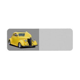 Classic car return address label