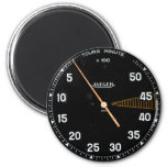 Classic car rev counter, vintage tachometer