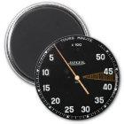 Classic car rev counter, vintage tachometer gauge magnet