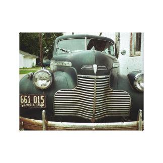 Classic Car Route 66 Canvas Print