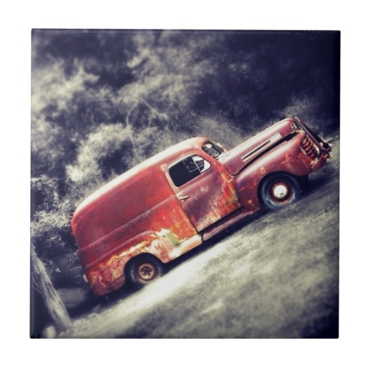 Classic Car Small Square Tile