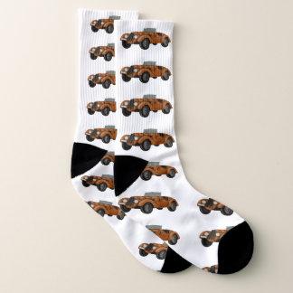 Classic Car Stretch Crew Socks