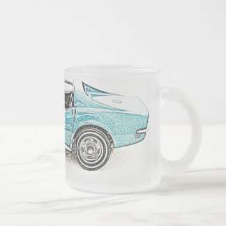 Classic Car T Top Frosted Glass Mug