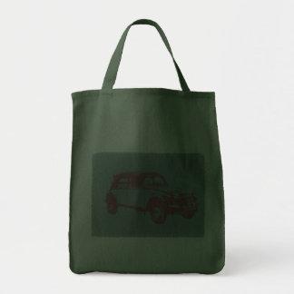Classic Car Grocery Tote Bag