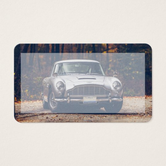 Motor trade business cards business card printing zazzle uk classic car vintage retrosilver business card reheart Choice Image