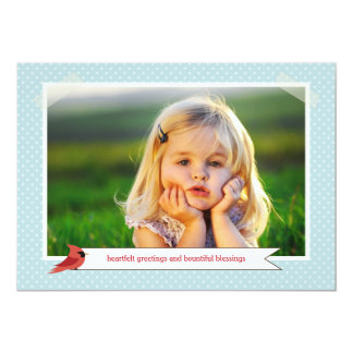 Classic Cardinal Double Sided 3 Photo Holiday Card 13 Cm X 18 Cm Invitation Card