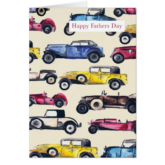 Classic Cars Father's Day Card