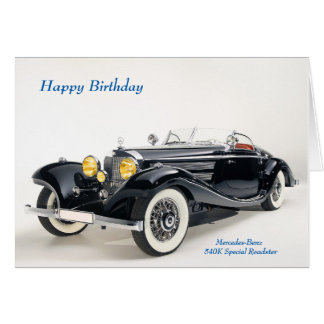 Classic cars image for Birthday greeting card