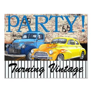 Classic Cars - Vintage - Route 66 - #3 - SRF 11 Cm X 14 Cm Invitation Card