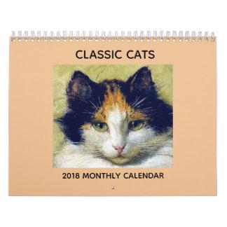 Classic Cat 2018 Calendar