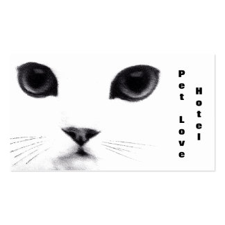 Classic Cat Face Double-Sided Standard Business Cards (Pack Of 100)