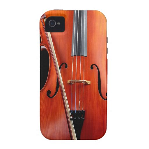 Classic cello on black vibe iPhone 4 cases