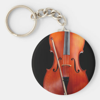 Classic cello on black key ring