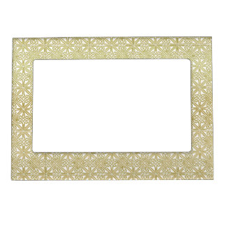 Classic Celtic Knot Wedding Gold & Green pattern Magnetic Frames