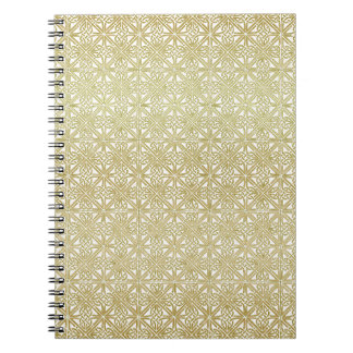 Classic Celtic Knot Wedding Gold & Green pattern Spiral Notebook