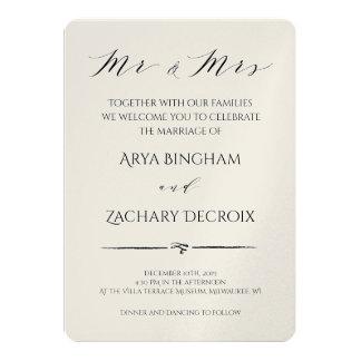 Classic Champagne Wedding Invitation